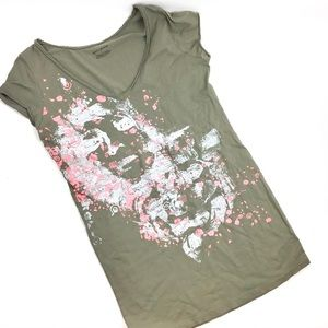 DKNY Jeans Shroud Graphic Relief Image Tee M